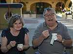 Kristin and Bob Felten during the Feed the Camel food truck night at the McKinley Arts Center in Reno on Wednesday, June 28, 2017.