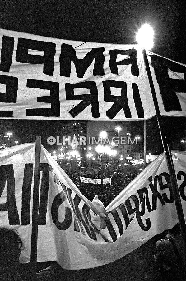Ato público do Movimento pela Anistia. SP. 1979. Foto de Juca Martins. Data. 08-08-1979