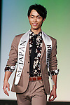 Mister Kumamoto, Hiroto Sasaki, competes in the finals of Mister Japan 2016 at Hotel Chinzanso Tokyo on March 1, 2016, Tokyo, Japan. Masaya Yamagishi from Kanagawa was elected Mister Japan 2016, and will compete in the next edition of Mister International. (Photo by Rodrigo Reyes Marin/AFLO)