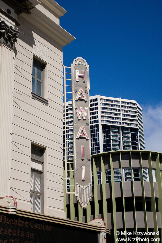 Historic Hawaii Theatre Building, Downtown Honolulu, Oahu, Hawaii