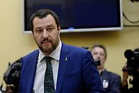 Roma, 19 Luglio 2018<br /> Matteo Salvini in conferenza stampa sul decreto terremoto