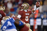 Florida State Seminoles quarterback Jameis Winston #5 passes the ball in the 2013 ACC Championship game against the Duke Blue Devils.  (Photo by Don Baxter/Media Images International)