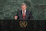 72 General Debate &ndash; 20 September <br /> <br /> <br /> His Excellency Petro Poroshenko, President of Ukraine