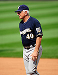 23 August 2009: Milwaukee Brewers' Manager Ken Macha walks back from the mound after a pitching change against the Washington Nationals at Nationals Park in Washington, DC. The Nationals defeated the Brewers 8-3 to take the third game of their four-game series, snapping a five games losing streak. Mandatory Credit: Ed Wolfstein Photo
