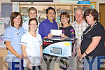KINDNESS: A microwave and EUR725 was donated on behalf of residents from Cloghane who raised the funds recently. From l-r: Abbey Lynch, Michelle Cahalan, Dr. Jeffrei Ismail, Deirdre Lynch, Seamus O'Donnell and Carmel O'Shea.