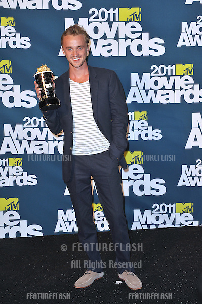 Tom Felton at the 2011 MTV Movie Awards at the Gibson Amphitheatre, Universal Studios, Hollywood..June 5, 2011  Los Angeles, CA.Picture: Paul Smith / Featureflash