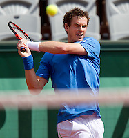 ANDY MURRAY (GBR) (4) against ERIC PRODON (FRA) in the first round of the men's singles. Andy Murray beat Eric Prodon 6-4 6-1 6-3..Tennis - Grand Slam - French Open - Roland Garros - Paris - Day 3 -  Tue May 24th 2011..© AMN Images, Barry House, 20-22 Worple Road, London, SW19 4DH, UK..+44 208 947 0100.www.amnimages.photoshelter.com.www.advantagemedianetwork.com.
