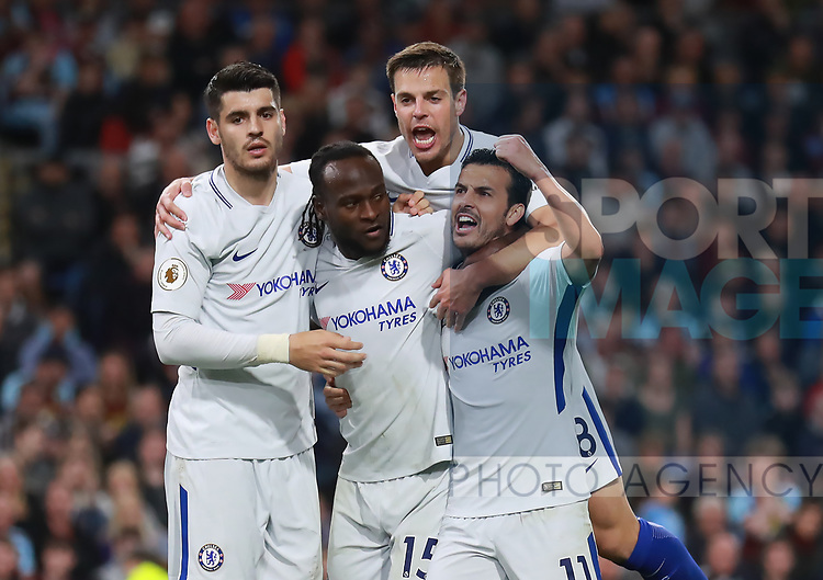 Victor Moses of Chelsea (c) celebrates scoring the second goalnduring the premier league match at the Turf Moor Stadium, Burnley. Picture date 19th April 2018. Picture credit should read: Simon Bellis/Sportimage