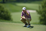 Bethesda, MD - June 28, 2014: Roberto Castro eyes his putt on hole 9 during Round 3 of the Quicken Loans National at the Congressional Country Club in Bethesda, MD, June 28, 2014.  (Photo by Don Baxter/Media Images International)