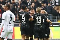 celebrate the goal, Torjubel zum 1:0 um Ante Rebic (Eintracht Frankfurt) - 02.03.2019: Eintracht Frankfurt vs. TSG 1899 Hoffenheim, Commerzbank Arena, 24. Spieltag Bundesliga, DISCLAIMER: DFL regulations prohibit any use of photographs as image sequences and/or quasi-video.