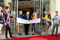 LOS ANGELES - FEB 14: Kate Bosworth, Sir Philip Green, Chloe Green at the Topshop Topman LA Grand Opening at The Grove on February 14, 2013 in Los Angeles, California