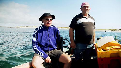 Peter Knox and Turbot islander John O'Toole
