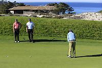 Bill Murray putts on the 4th green at Spyglass Hill during Thursday's Round 1 of the 2018 AT&amp;T Pebble Beach Pro-Am, held over 3 courses Pebble Beach, Spyglass Hill and Monterey, California, USA. 8th February 2018.<br /> Picture: Eoin Clarke | Golffile<br /> <br /> <br /> All photos usage must carry mandatory copyright credit (&copy; Golffile | Eoin Clarke)