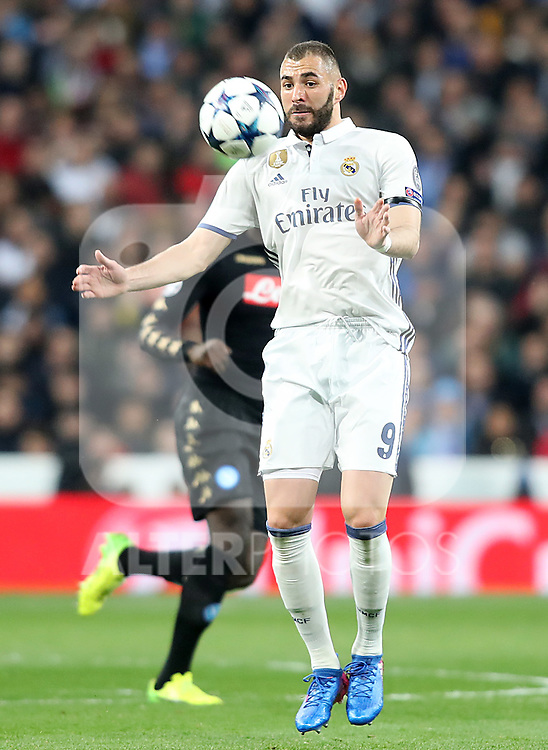 Real Madrid's Karim Benzema during Champions League 2016/2017 Round of 16 1st leg match. February 15,2017. (ALTERPHOTOS/Acero)
