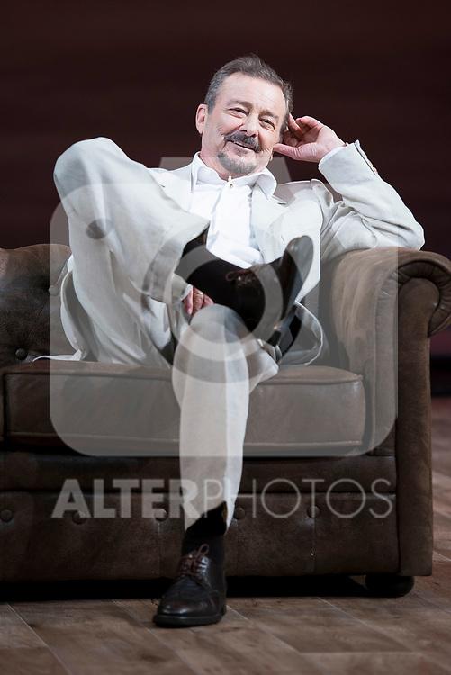 """Juan Diego during theater play of """"Una gata sobre un tejado de Cinc caliente"""" at Reina Victoria theater in Madrid, Spain. March 15, 2017. (ALTERPHOTOS/BorjaB.Hojas)"""