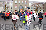 The huge crowd at the septic tank protest at Kerry County Council on Tuesday.