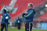 09 December 2016: Seattle head coach Brian Schmetzer. Seattle Sounders FC held a training session one day before playing in MLS Cup 2016 at BMO Field in Toronto, Ontario in Canada.