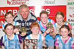 The Currow NS team that won the Senior National Schools girls final on Tuesday front row l-r: Orla Brosnan, Erin O'Connor, Laoise Sheehan. Back row: Vanessa Breen, Bertie Griffin, Aine O'Connor and Aoife Horgan