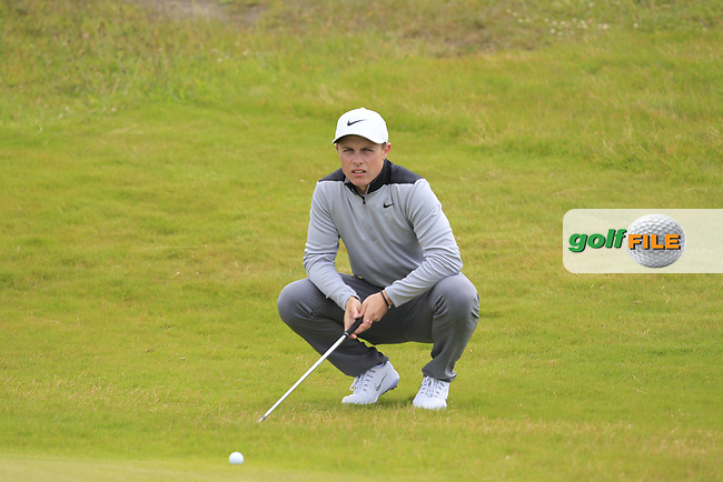 Conor Purcell (Portmarnock) on the 4th during Round 1 of the The Amateur Championship 2019 at The Island Golf Club, Co. Dublin on Monday 17th June 2019.<br /> Picture:  Thos Caffrey / Golffile<br /> <br /> All photo usage must carry mandatory copyright credit (© Golffile | Thos Caffrey)