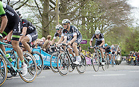Tom Boonen (BEL/OPQS) & teammates coming up the Kruisberg in full finale just behind Sep Vanmarcke (BEL/Belkin) & Fabian Cancellara (CHE/TrekFactoryRacing) who would pull away from them on Paterberg later on<br /> <br /> Ronde van Vlaanderen 2014