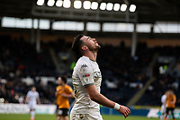 Leeds United's Jack Harrison reacts<br /> <br /> Photographer Alex Dodd/CameraSport<br /> <br /> The EFL Sky Bet Championship - Hull City v Leeds United - Saturday 29th February 2020 - KCOM Stadium - Hull<br /> <br /> World Copyright © 2020 CameraSport. All rights reserved. 43 Linden Ave. Countesthorpe. Leicester. England. LE8 5PG - Tel: +44 (0) 116 277 4147 - admin@camerasport.com - www.camerasport.com