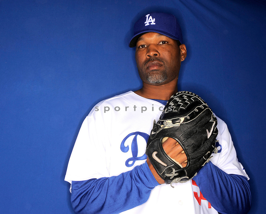 STEPHEN RANDOLPH, of the Los Angeles Dodgers, during photo day of spring training and the Dodger's training camp in Glendale, Arizona on February 21, 2009.
