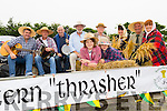 The Ballyheigue Pattern Thrasher's,l-r  Jack Thornton, Adam Thornton, Joe Drury, John Thotnton, Pat O'Donnell, Joe O'Sullivan, Michael O'Halloran, Mary Foran, Tom Lawlor,  and Mary O'Halloran at the Ballyheigue Festival Parade on Sunday