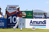 Jon Rahm (ESP) on the 10th tee during Round 1 of the HNA Open De France at Le Golf National in Saint-Quentin-En-Yvelines, Paris, France on Thursday 28th June 2018.<br /> Picture:  Thos Caffrey | Golffile