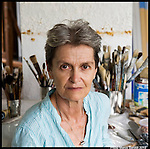 Monique Patenaude, Auroville artist participating at Chennai Festival 2015 'Auroville, That's it'