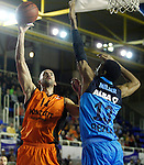 Montakit Fuenlabrada's Xavi Rey (l) and Alba Berlin's Malcolm Miller during Eurocup, Regular Season, Round 6 match. November 16, 2016. (ALTERPHOTOS/Acero)