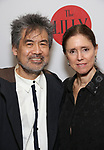 David Henry Hwang and Julie Taymor attends the The Lilly Awards  at Playwrights Horizons on May 22, 2017 in New York City.
