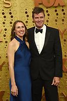 LOS ANGELES - SEP 22:  Lara Sackett, Morgan Sackett at the Primetime Emmy Awards - Arrivals at the Microsoft Theater on September 22, 2019 in Los Angeles, CA