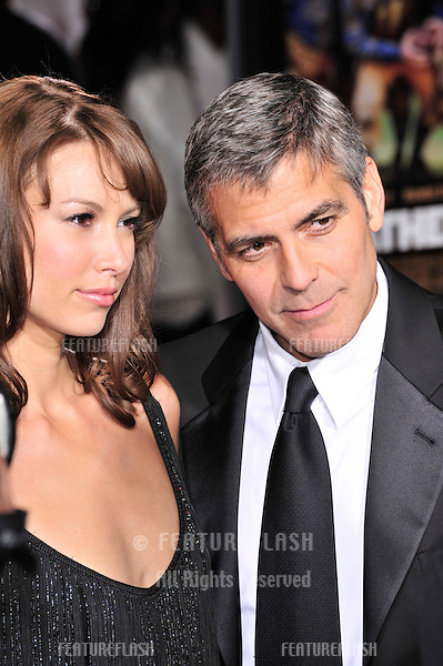 "George Clooney & girlfriend Sarah Larson at the world premiere of his new movie ""Leatherheads"" at Grauman's Chinese Theatre..March 31, 2008  Los Angeles, CA.Picture: Paul Smith / Featureflash"