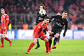 December 5th 2017, Allianze Arena, Munich, Germany. UEFA Champions league football, Bayern Munich versus Paris St Germain;  MARCO VERRATTI (psg) challenged by James Rodríguez (bay)