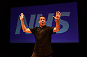 """Lakin McCarthy, in association with Nick of Time Productions Ltd, presents """"Check Up: Our NHS at 70"""", by Mark Thomas, at the Traverse Theatre, as part of the Edinburgh Festival Fringe. Directed Nicolas Kent. with set, lighting and video design by Jon Driscoll. Picture shows: Mark Thomas."""