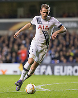 Goalscorer Harry Kane of Tottenham Hotspur in action during the UEFA Europa League Group J match between Tottenham Hotspur and R.S.C. Anderlecht at White Hart Lane, London, England on 5 November 2015. Photo by Andy Rowland.
