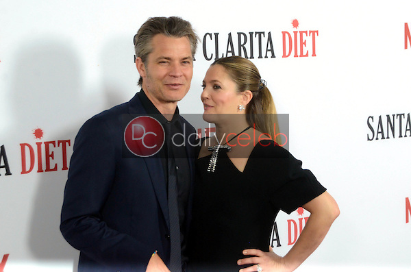 "Drew Barrymore, Timothy Olyphant<br /> at the ""Santa Clarita Diet"" Premiere, Arclight Cinerama Dome, Hollywood, CA 02-01-17<br /> David Edwards/DailyCeleb.com 818-249-4998"