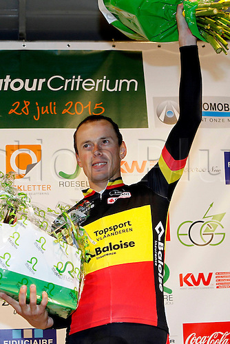 28.07.2015. Roeselare, Belgium. Criterium Roeselare Natour. The city of Roeselare hosts a delegate field with the  main riders of the Tour de France 2015. VAN HECKE PREBEN