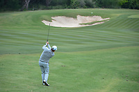 Graeme McDowell (NIR) hits his approach shot on 10 during Round 2 of the Valero Texas Open, AT&amp;T Oaks Course, TPC San Antonio, San Antonio, Texas, USA. 4/20/2018.<br /> Picture: Golffile | Ken Murray<br /> <br /> <br /> All photo usage must carry mandatory copyright credit (&copy; Golffile | Ken Murray)