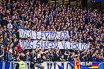 Stockholm 2013-10-27 Fotboll Allsvenskan Djurg&aring;rdens IF - Gefle IF :  <br /> Djurg&aring;rden supportrar med en banderoll innan matchen med texten &quot;Vila i Frid Joel Idag sjunger vi f&ouml;r dig&quot;<br /> (Foto: Kenta J&ouml;nsson) Nyckelord:  supporter fans publik supporters