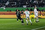 01.12.2019, Volkswagen Arena, Wolfsburg, GER, 1.FBL, VfL Wolfsburg vs SV Werder Bremen<br /><br />DFL REGULATIONS PROHIBIT ANY USE OF PHOTOGRAPHS AS IMAGE SEQUENCES AND/OR QUASI-VIDEO.<br /><br />im Bild / picture shows<br />Jiri Pavlenka (Werder Bremen #01) wehrt einen Torschuss ab, <br />Ludwig Augustinsson (Werder Bremen #05), <br />Christian Groß / Gross (Werder Bremen #36), <br /><br />Foto © nordphoto / Ewert