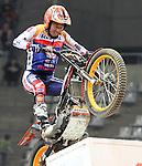10.02.2013. Barcelona, Spain. FIM X Trial World Championship. Picture show Takahisha Fujinami riding Honda in action during GP of Catalunya at Palau St. Jordi