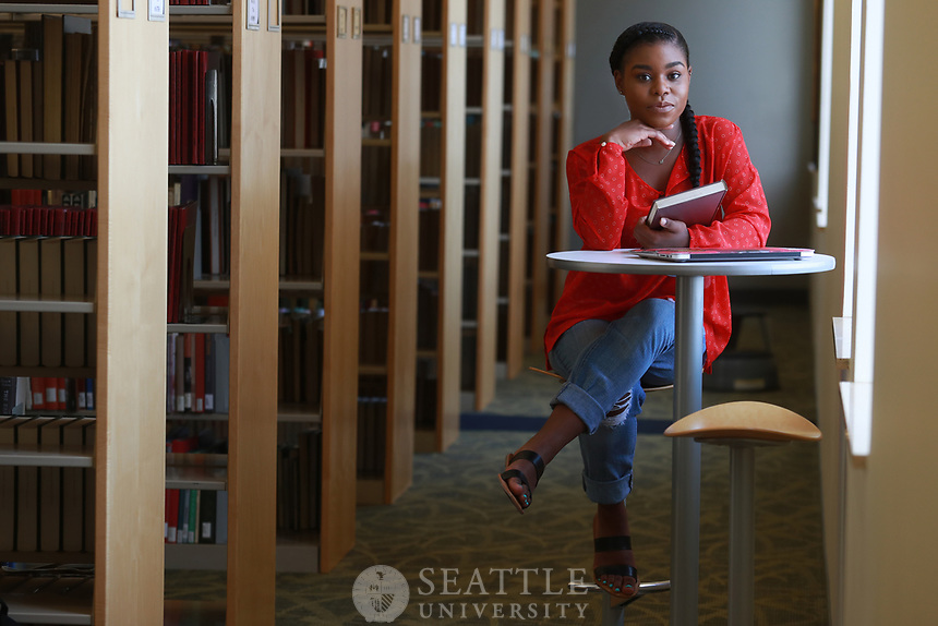 June 7th 2017 - Shaunice Wilson, '17, a senior public affairs major from Renton, Wash., with a concentration in international development.