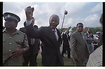 Nelson Mandela during the Caribbean Nations conference on St. Lucia