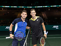 Rotterdam, The Netherlands, 9 Februari 2020, ABNAMRO World Tennis Tournament, Ahoy, Vasek Pospisil (CAN) vs FilipKrajinovic (SRB) (L)<br /> Photo: www.tennisimages.com