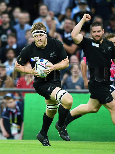 20.09.2015. London, England. Rugby World Cup. New Zealand versus Argentina.  Sam Cane scores a try for the All Blacks.  Wembley Stadium in London, UK.