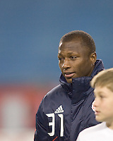 New England Revolution midfielder Sainey Nyassi (31). The New England Revolution defeated FC Dallas, 2-1, at Gillette Stadium on April 4, 2009. Photo by Andrew Katsampes /isiphotos.com