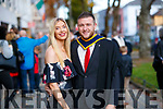 Micheál O'Dowd, (Brandon), who graduated in Computing and Software Development, from IT Tralee, at the Brandon Conference Centre, Tralee, on Friday last. Pictured here with his girlfriend Laura Sheehy (Lixnaw).