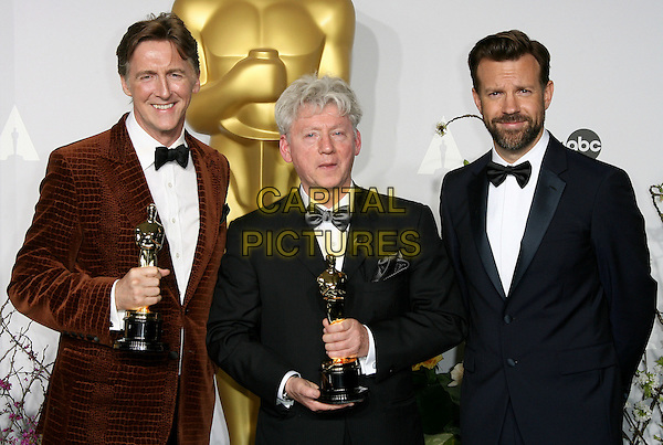 02 March 2014 - Hollywood, California - Nicholas Reed, Malcolm Clarke, Jason Sudeikis. 86th Annual Academy Awards held at the Dolby Theatre at Hollywood &amp; Highland Center. <br /> CAP/ADM<br /> &copy;AdMedia/Capital Pictures