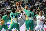 Ribeiro, Sevaljevic & Pacheco. MONTENEGRO vs BRAZIL: 25-26 - Preliminary Round - Group A